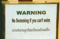 Oh man! I was totally gonna swim!