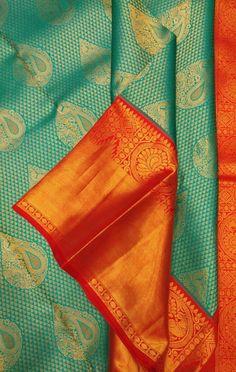 Green Handloom Kanjeevaram Pure Silk Saree#kanjeevaram#puresilk#saree#