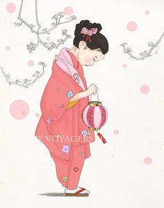 cherry blossom girl via etsy