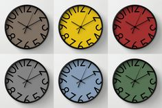 Wall clock with big numbers numbered wall by LazyLittleLuckyGirl
