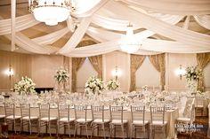 Ballroom at the Seelbach Hotel. Photo by Louisville wedding photographer David Blair.