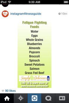 Fatigue fighting foods