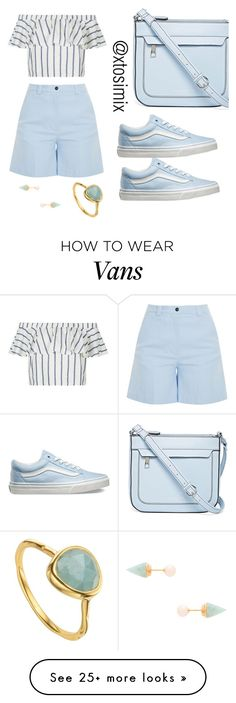 """""""Untitled #66"""" by ayotosimi-falomo on Polyvore featuring Liz Claiborne, Vans, Acne Studios, Topshop, Vita Fede and Monica Vinader"""