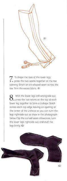 How to sew a cute fabric doll boot from the new book Cloth Doll Workshop: