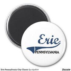 Erie Pennsylvania City Classic 2 Inch Round Magnet