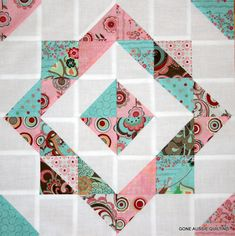 Make with layer cake or charm pack and let one block be the top.  Fast gift quilt