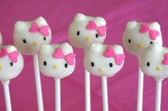 Hello Kitty Cake Pops - Would love to make these, but they're above my skill level.