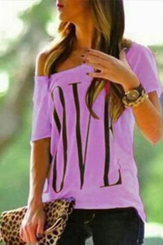 39545e68d356b Shopping One Shoulder Letters T-Shirts online with high-quality and best  prices T-shirts at Luvyle.