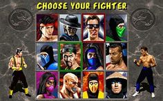 Mortal Kombat II (Fighter Select Screen)