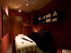 Cabina de masajes del Spa del hotel Barceló Monasterio de Boltaña