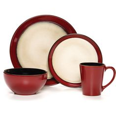 Deal #16 - Pfaltzgraff Studio Aria Red 16-Piece Dinnerware Set $45.92 The Pfaltzgraff Studio Aria Red 16-Piece Dinnerware Set will brighten up your table with the rich contemporary red border making a bold statement. This design combines style and durability that complements a variety of different colors and decors well. http://thekitchenstoreatjewellsonlinemall.blogspot.com