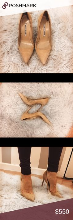 Manolo Blahnik BB NUDE Amazing!!! Authentic Classic point toe Manolo Blahnik BB point toe Pump in nude. Size 37(7). They were only worn twice! Super comfortable!!! Bottom of shoe has signal of wear, but no other signs of wear present Manolo Blahnik Shoes Heels