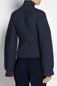 Vionnet | Chunky-knit merino wool sweater. Lovely- but i'd tailor the sleeves more
