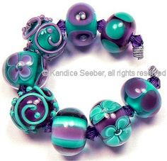Handmade lampwork beads by Kandice Seeber