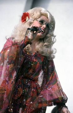 Dolly Parton performing in Detroit, September 1977.