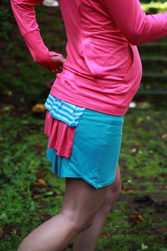 Sporty Sewing in Bamboo Jersey - Avocado Hoodies and Jalie Running Skirt
