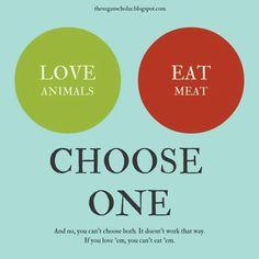 If you love animals you don't (involuntarily) eat them. Go #vegan