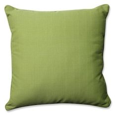 Pillow Perfect Solid 25 in. Square Floor Pillow Forsyth Green - 577845