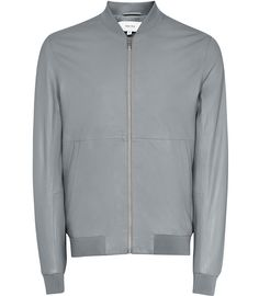 REISS - BILLY LEATHER BOMBER JACKET