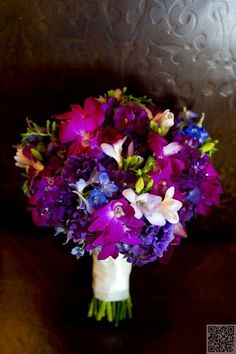 21. #Vibrant Purple - 58 #Stunning #Wedding #Flower Arrangements to #Inspire You ... → Wedding #Bouquet
