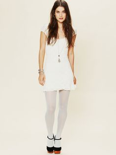 Free People Pastel Opaque Tight, $12.00. White tights, that's a dare...