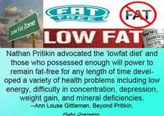 """FALSE: The Best Diet is a Low-Fat Diet, With Carbs at 50-60% of Calories. """"The #LowFatDiet has been put to the test in several huge randomized controlled trials. It does not cause any weight loss over a period of 7.5 years and it has literally no effect on heart disease or cancer. The low-fat diet is a huge failure. All the major studies show that it doesn't work. http://eatlocalgrown.com/article/12674-shouldnt-take-advice-nutritionist.html?c=tca"""