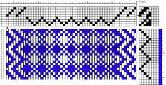 There was a question over at Weavolution about adding plain weave borders to a waffle weave. As the asker had 4 empty shafts on her loom. Weaving Patterns, Pattern Drafting, Hand Weaving, Doodles, Diagram, Ads, This Or That Questions, Weaving, Hand Knitting
