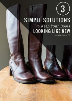 Fix Scuffs and Salt Stains with 3 Simple Boot Care Solutions | http://hellonatural.co/boot-care-basics/