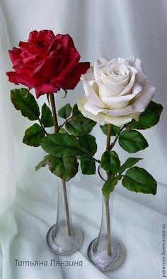 Цветы ручной работы. Ярмарка Мастеров - ручная работа. Купить КАЙ И ГЕРДА. розы. флористические полимерные глины. Handmade.