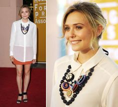 Camisa blanca + maxicollar = muy lindo Elizabeth Olsen, My Outfit, Diaries, Must Haves, Coat, Jackets, Shirts, Outfits, Clothes