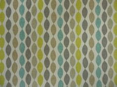 Clarke & Clarke Festival Twist F0481/01 Aqua cotton curtain fabric