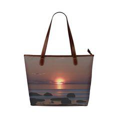 Shockwave Sunset Shoulder Tote Bag (Model 1646)