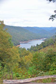 Lake Fontana, as seen from an overlook along NC Highway 28 near Fontana Village.