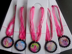 Set of 5 My Little Pony Party Favor Necklaces