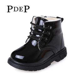>> Click to Buy << PDEP Winter Colorful Ankle PU Leather Fur Footwear For 12 Years Old Girls Little Boys Chain Warm Kids Martin Boots Shoes #Affiliate