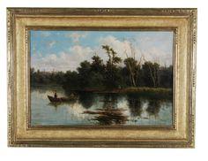 Figures in a Boat  by Antonio Julius Rose 1828-1911.jpg