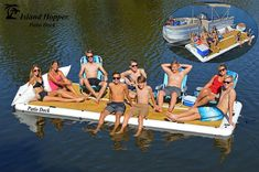 Floating Dock, Floating In Water, Boat Dock, Pontoon Boat, Floating Platform, Top Boat, Sport Boats, Fort Walton Beach, Wakeboarding