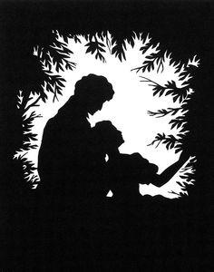 Cut-paper Silhouette Photograph  - Cut-paper Silhouette Fine Art Print