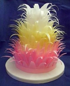 FunStocki: Feather Cake Vanilla sponge and chocolate cake layers, with edible feathers.