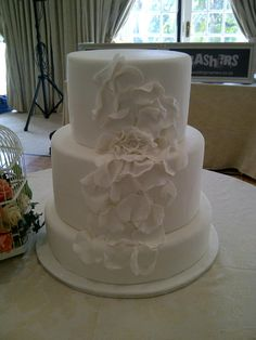 A beautifully decorated wedding cake - Belle's Patisserie