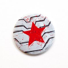 Captain America Button Winter Soldier 2 Pinback by PeppersPins