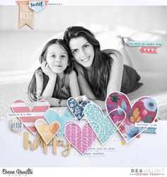I need more colorful hearts in my life It's scrap lift week on the @cocoa_vanilla_studio blog, I lifted @thinkpinkandmint lovely big photo layout, using the gorgeous Wild at Heart collection. More details on my blog #scrapbooking #scrapbook #papercrafts #cocoavanillastudio #wildatheart #cvswildatheart