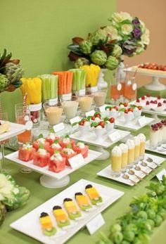 barra de frutas y vegetales