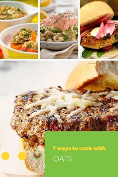 Adventure beyond the steaming bowl of oatmeal and explore other ways to use this versatile whole grain powerhouse. Honey Recipes, Oats Recipes, Fruit Recipes, Egg Recipes, Turkey Recipes, Pork Recipes, Vegetable Recipes, Chicken Recipes, Vegetarian Recipes