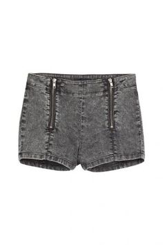 The Kooples The Kooples Denim Shorts mit Zipper-Details – Grau