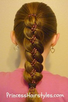 4 strand braid with beads