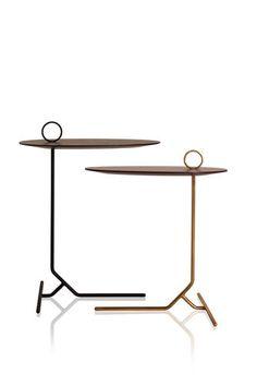 Table d'appoint / contemporaine / en métal laqué / de salon ASTI by Jader Almeida SOLLOS