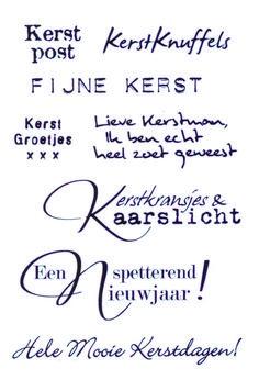 Clear stamp Kerstwensen - Postpapier enzo