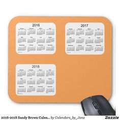 2016-2018 Sandy Brown Calendar by Janz Mousepad