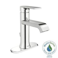 MOEN Genta Single Hole Single-Handle Bathroom Faucet in Chrome WS84760 at The Home Depot - Mobile